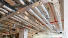 Exposed HVAC pipework London