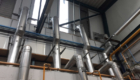 Exposed Venitlation pipes for gas training centre