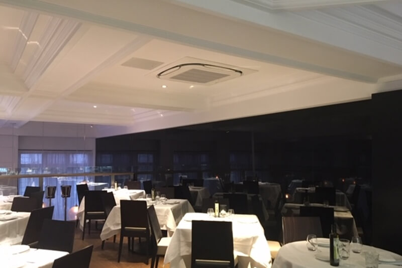 restaurant air conditioning Milos London