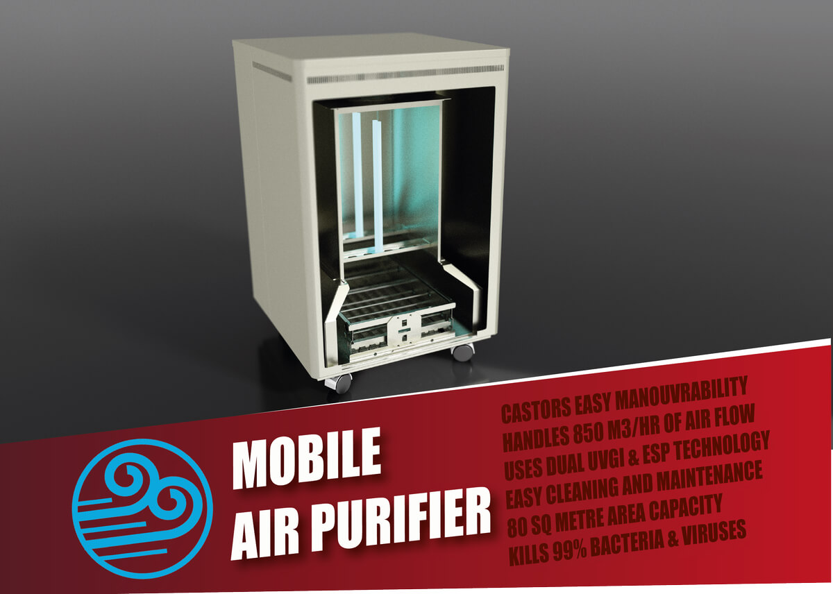 Mobile UVGI Air Purifier
