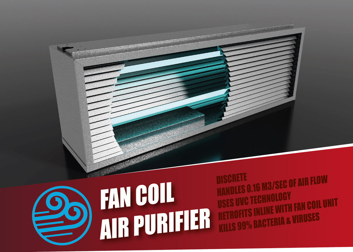Fan Coil UVGI Air Purifier