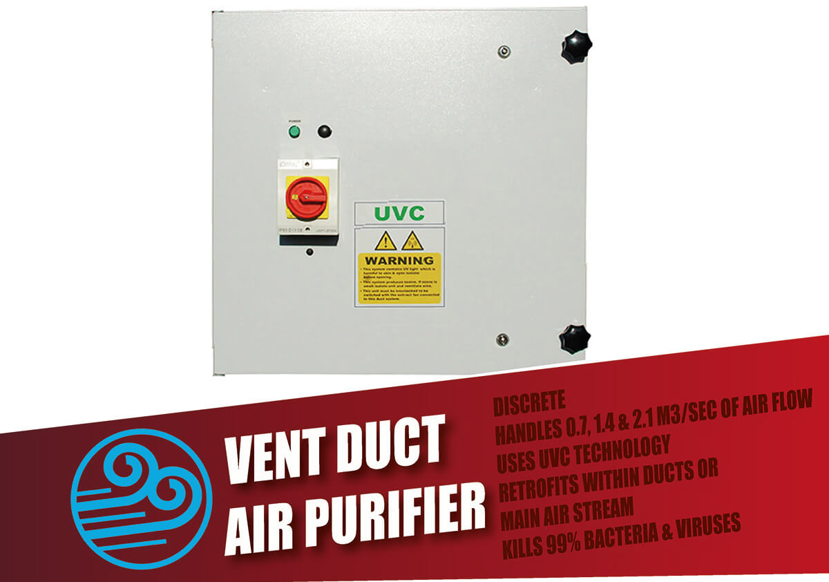 Ventilation Duct UVGI Air Purifiers